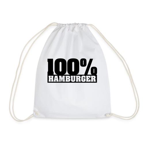 100% Hamburger Typo 2 - Turnbeutel