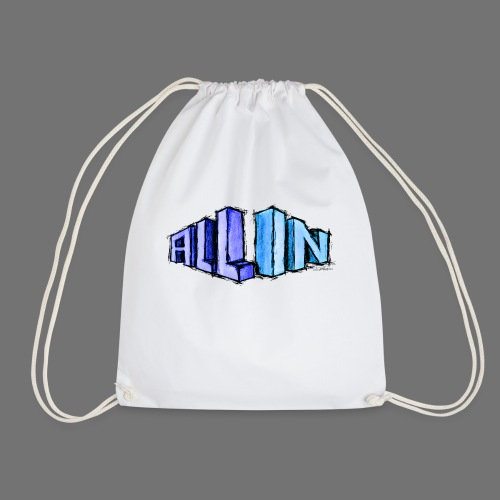 All In scribble - Drawstring Bag