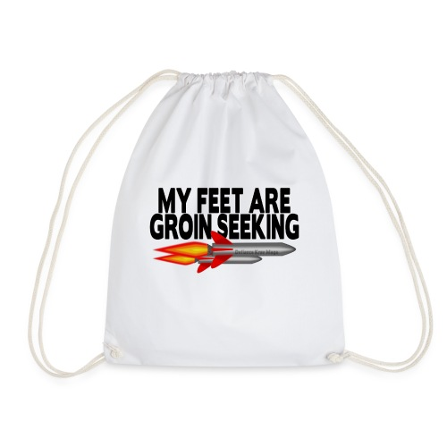 Ladies Casual Groin Seeking Missile Tshirt - Drawstring Bag