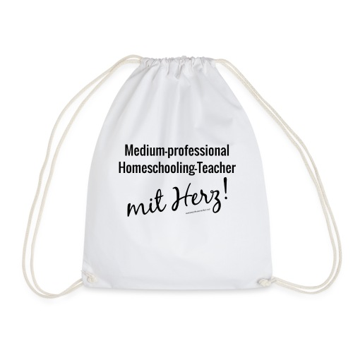 Homeschooling-Teacher schwarz - Turnbeutel