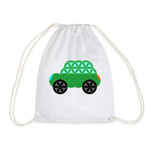The Car Of Life - M01, Sacred Shapes, Green/363 - Drawstring Bag