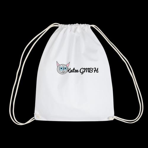 Katze GMBH Logo mit Schriftzug (Schwarz auf weiss) - Turnbeutel