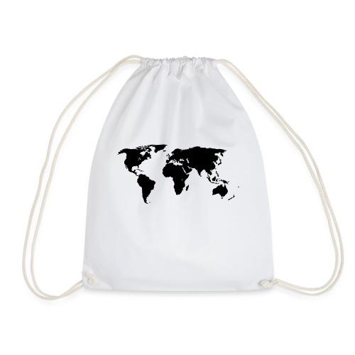 World Outline - Drawstring Bag