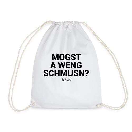 Mogst schmusn? / Bayrisch Mundart / Liebe kuscheln - Turnbeutel