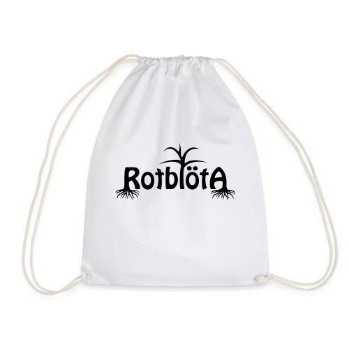 Rotblöta svart logo - Gymnastikpåse