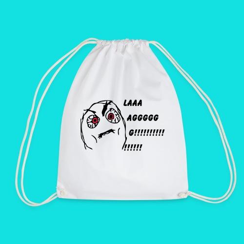 Rage Meme Black - Drawstring Bag