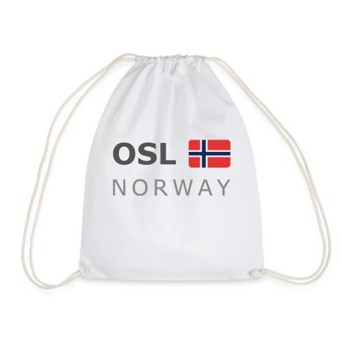 OSL NORWAY dark-lettered 400 dpi - Drawstring Bag