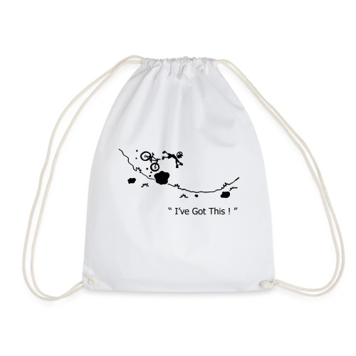 I've Got This! Bike Crash - Drawstring Bag