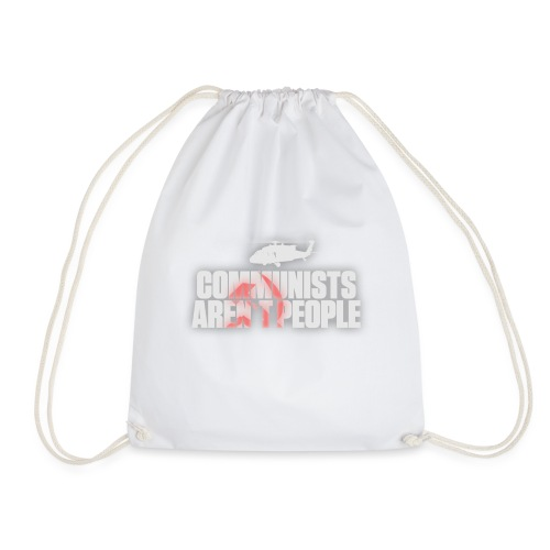 Communists aren't People (White) (No uzalu logo) - Drawstring Bag