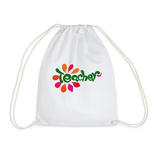Teacher Flower - Drawstring Bag