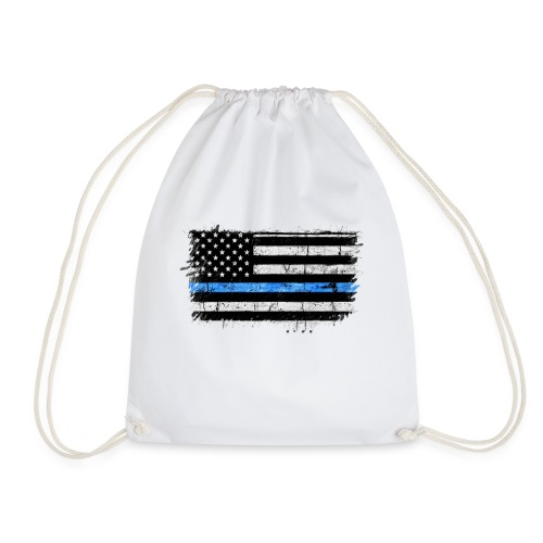 police back the blue flag - Mochila saco