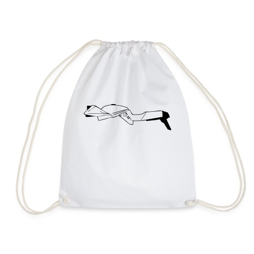 Katana motorcycle outline - Drawstring Bag