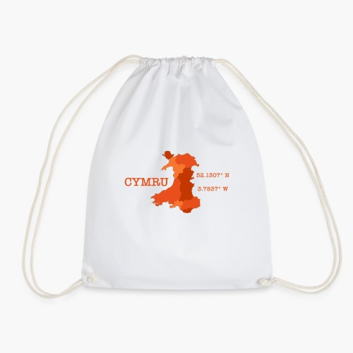 Cymru - Latitude / Longitude - Drawstring Bag