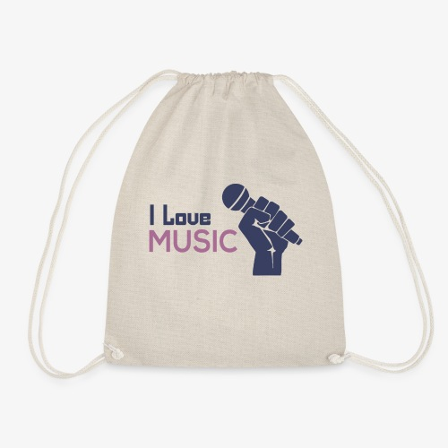 Amo la música - Mochila saco