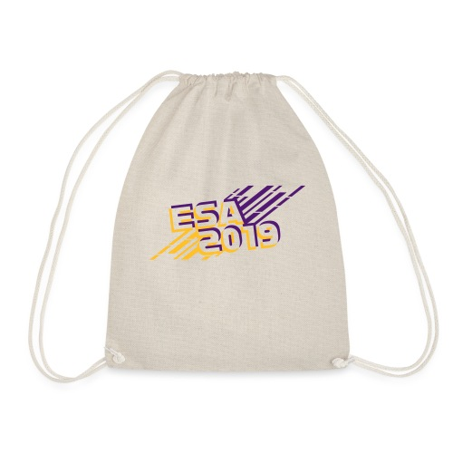 ESA 2019 - Summer Gold and Purple - Drawstring Bag