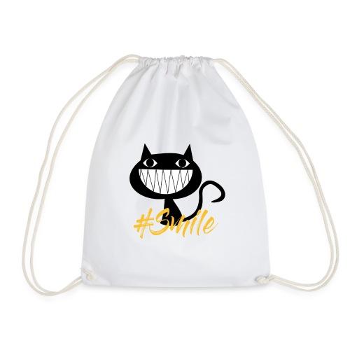 Katze Lachen, Cat Smile - Turnbeutel