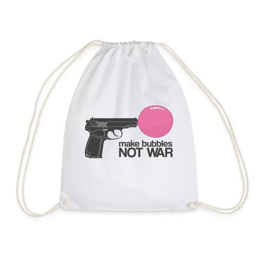Make bubbles not war - Drawstring Bag