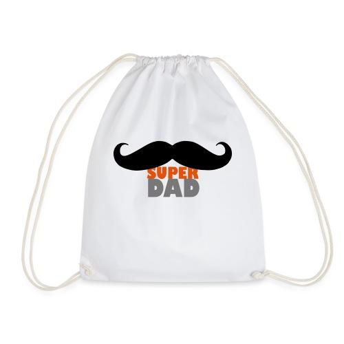 superdad moustache - Turnbeutel