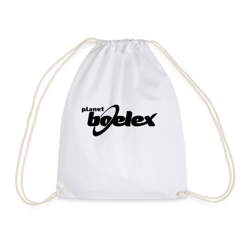 Planet Boelex logo black - Drawstring Bag