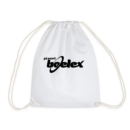 Planet Boelex logo black - Drawstring Bag