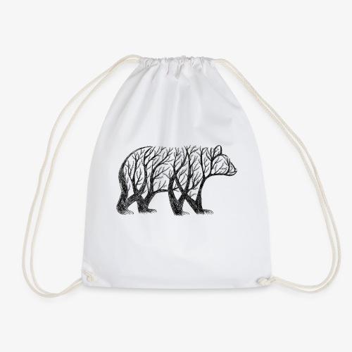 bear made from trees! - Drawstring Bag