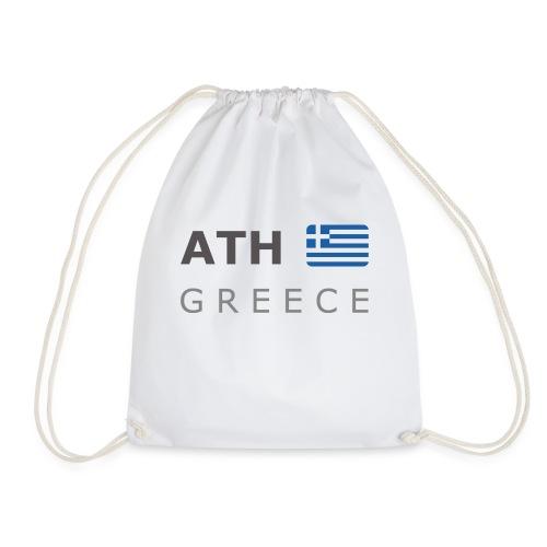 ATH GREECE dark-lettered 400 dpi - Drawstring Bag