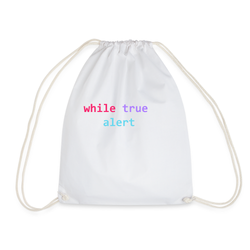 whilte(true) tee - Drawstring Bag