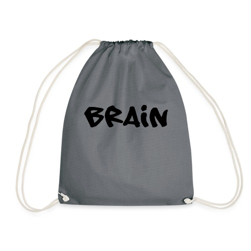 brain schriftzug - Turnbeutel