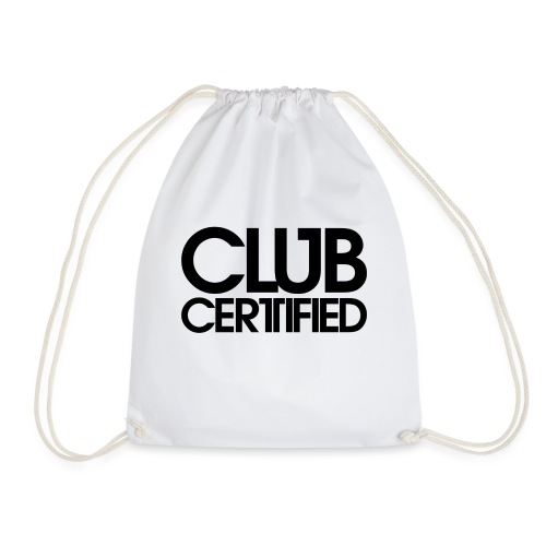 LOGO CLUB CERTIFIED BLACK - Drawstring Bag