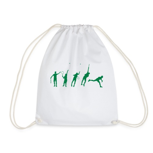 Tennis Serve Stages - Drawstring Bag
