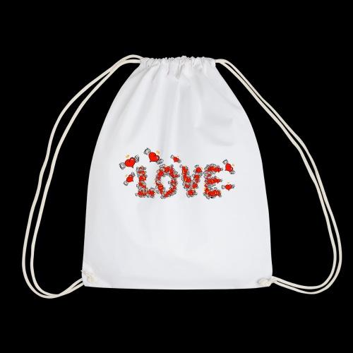 Flying Hearts LOVE - Drawstring Bag
