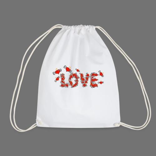 Fliegende Herzen LOVE - Turnbeutel