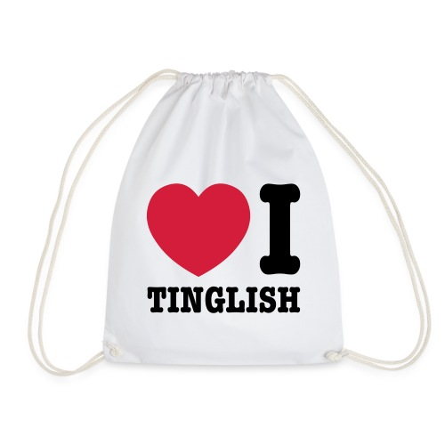 Heart (Love) I Tinglish - Drawstring Bag
