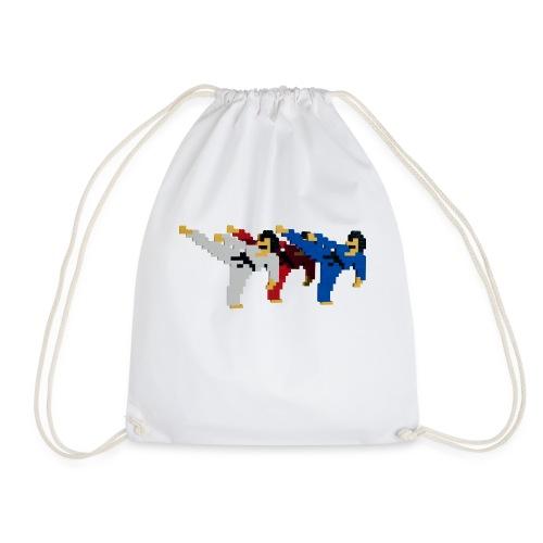 8 bit trip ninjas 2 - Drawstring Bag