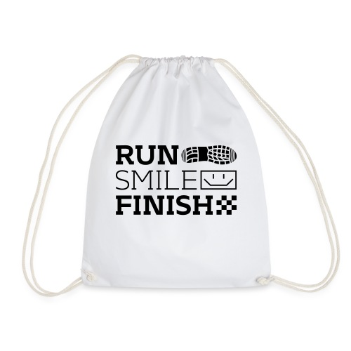 Run Smile Finish Marathon-Motto - Turnbeutel