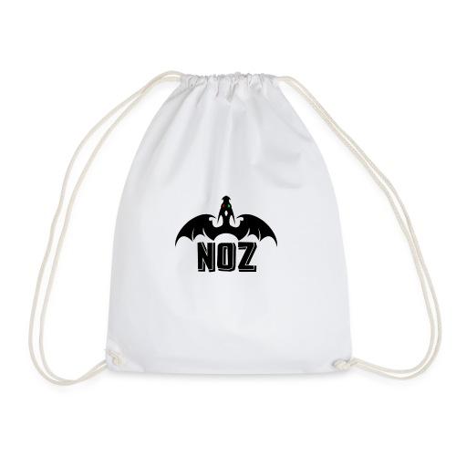 NOZlogoBlack nowhite - Drawstring Bag
