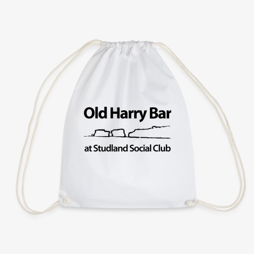 Old Harry Bar logo - black - Drawstring Bag