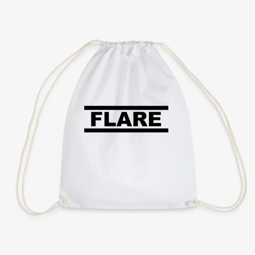White T-Shirt - Black logo - FLARE - Gymtas