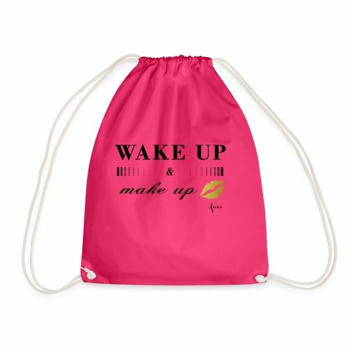 wake up and make up - Turnbeutel
