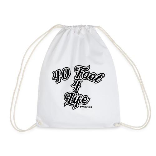 40 foot 4 life - Drawstring Bag