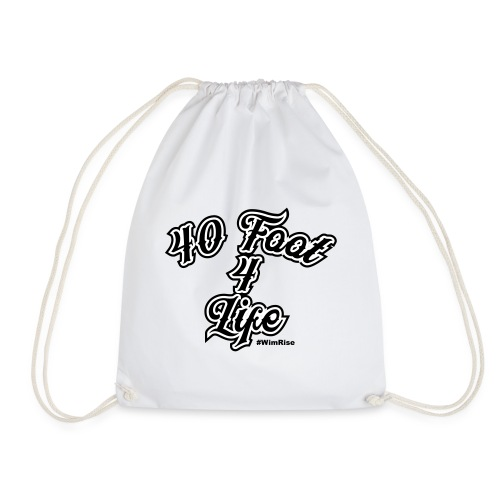 40 foot 4 life - Drawstring Bag