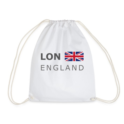 LON ENGLAND BF dark-lettered 400 dpi - Drawstring Bag