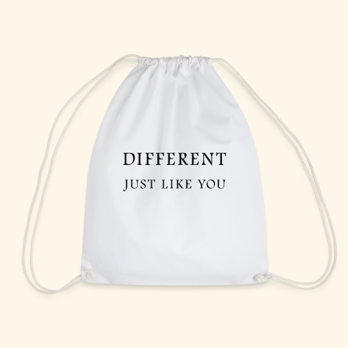 Different Just Like You (black font) - Gymtas