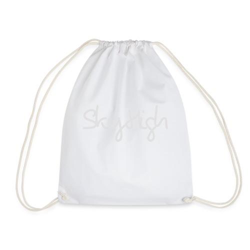 SkyHigh - Men's T-Shirt - Gray Lettering - Drawstring Bag