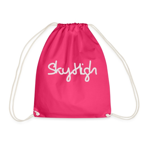 SkyHigh - Men's T-Shirt - Gray Lettering - Drawstring Bag