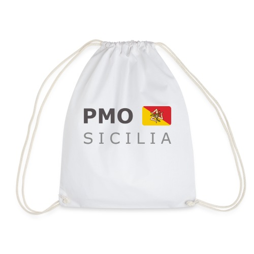 PMO SICILIA dark-lettered 400 dpi - Drawstring Bag