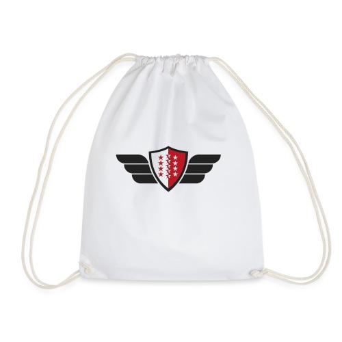 Flying Valais - Walliser Flagge mit Flügeln - Turnbeutel
