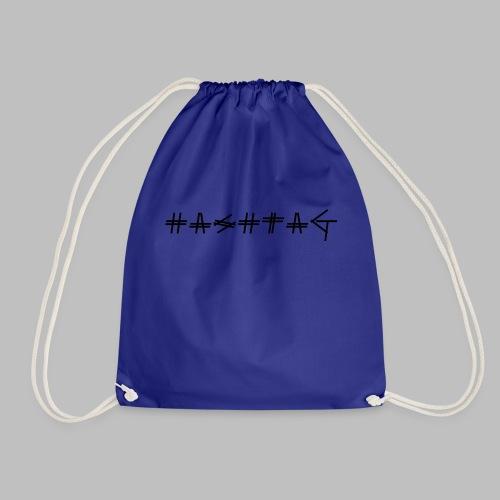 Hashtag - Drawstring Bag