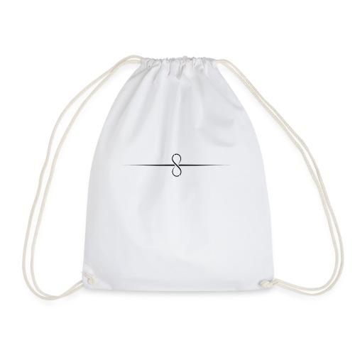 Through Infinity black symbol - Drawstring Bag