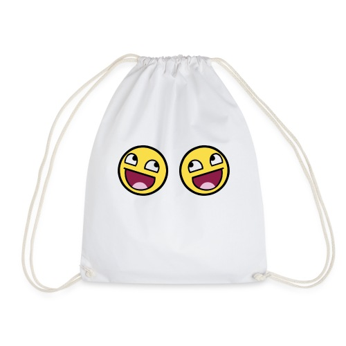 Boxers lolface 300 fixed gif - Drawstring Bag